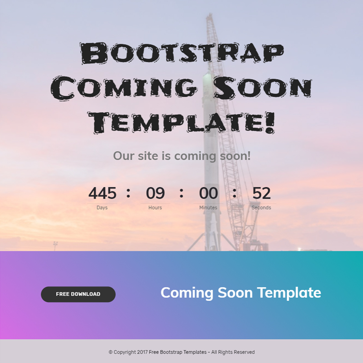 HTML Bootstrap Coming Soon Templates