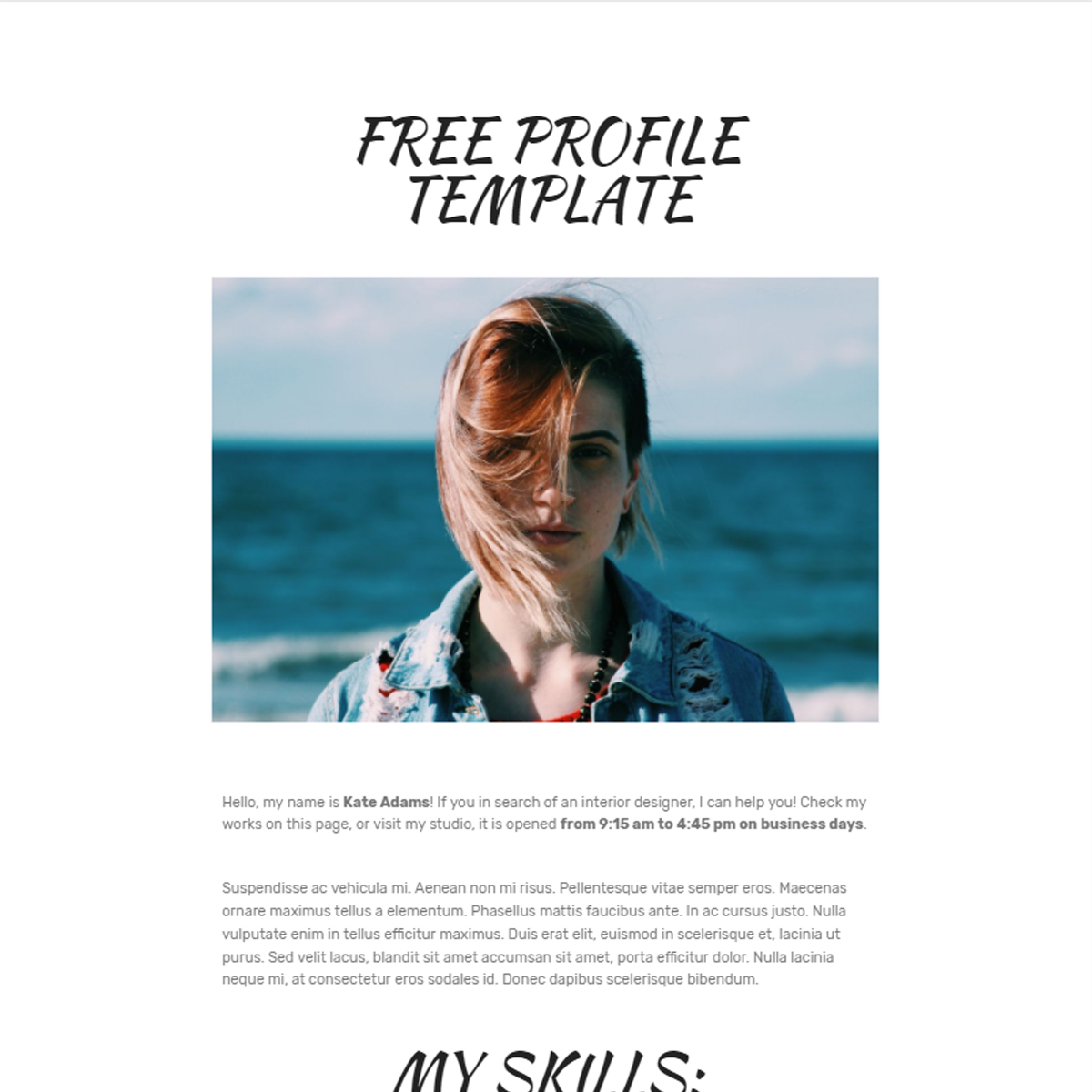 CSS3 Bootstrap  Profile Templates