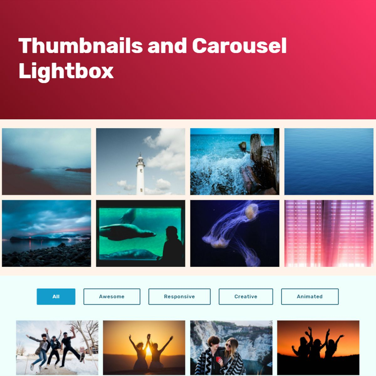 30+ Wonderful JavaScript Bootstrap Image Carousel and Gallery Demos