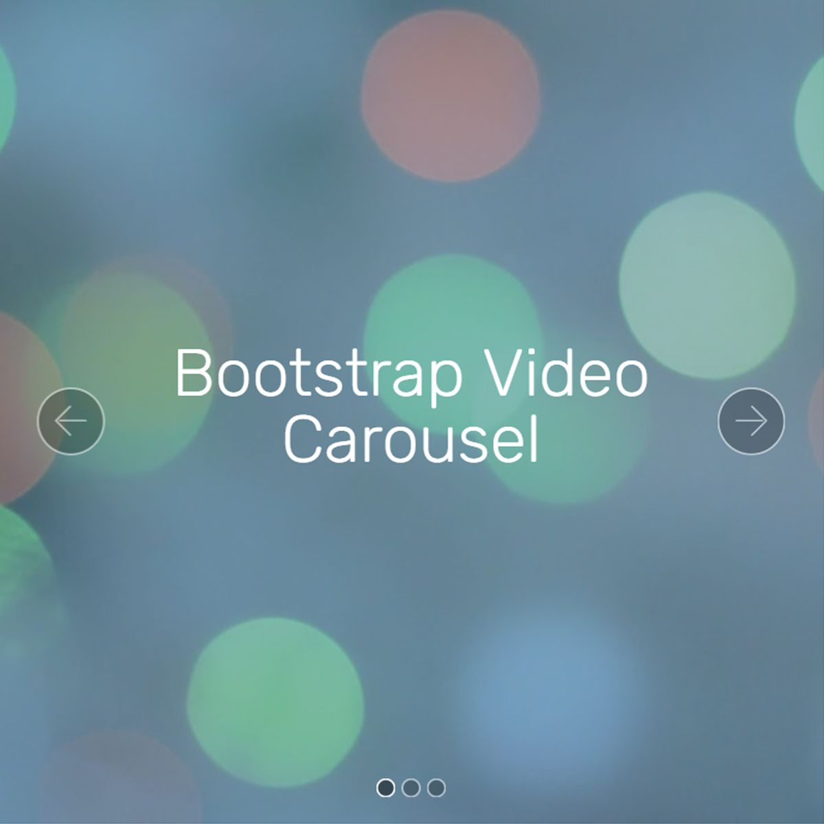 CSS Bootstrap Photo Slider